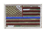 Nine Line Apparel American Flag Thin Blue Line Patch, , hi-res