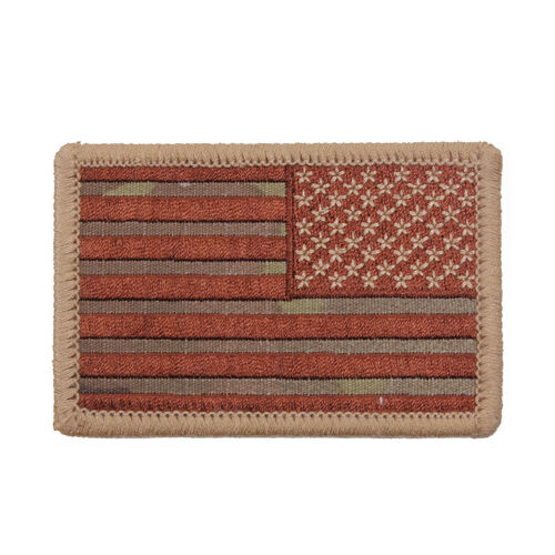 Rothco Iron On / Sew On Embroidered US Flag Patch Reverse, , hi-res
