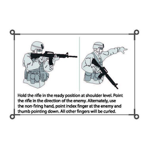 Army Flashcards Military Hand and Arm Signals Flashcards, , hi-res