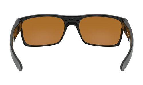 Oakley Two Faced Sunglasses With Polished Black Frames And Dark Bronze Lens, , hi-res