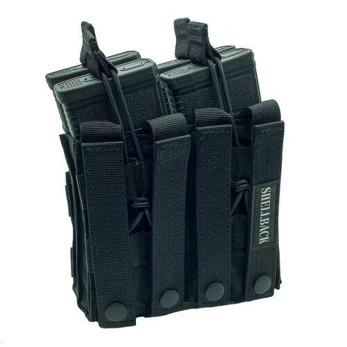 Shellback Tactical Double Stacker Open Top M4 Mag Pouch, , hi-res