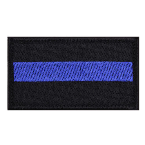 Rothco Thin Blue Line Hook Backed Patch, , hi-res