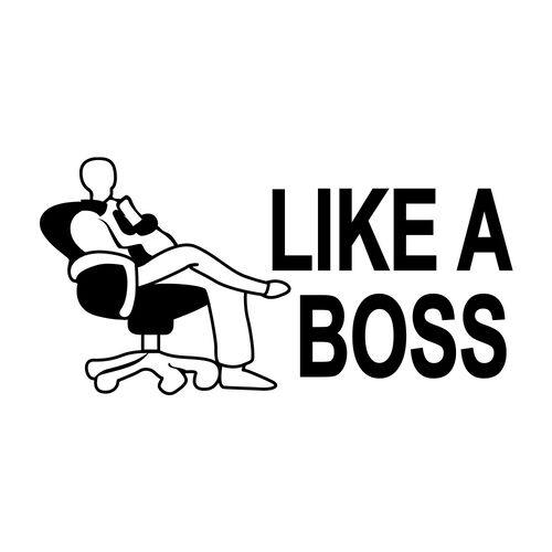 Like a Boss Morale Decal, , hi-res