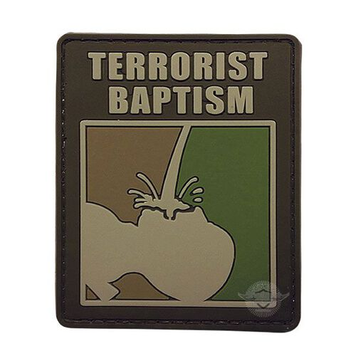 5ive Star Gear Terrorist Baptism PVC Morale Patch, , hi-res