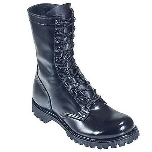 "Corcoran Plain Toe 10"" Leather Combat Boots with Lug Outsole, , hi-res"