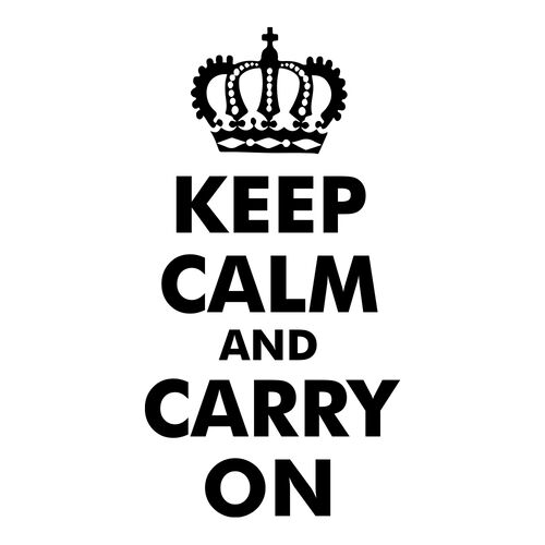 Keep Calm Carry On Morale Car Decal, , hi-res