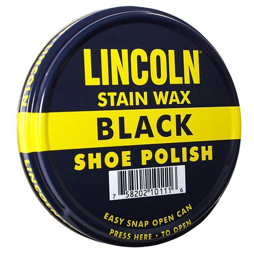 Lincoln 3 Oz Can Stain Wax Shoes Polish, , hi-res