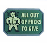All Out of F*cks PVC Morale Patch, , hi-res