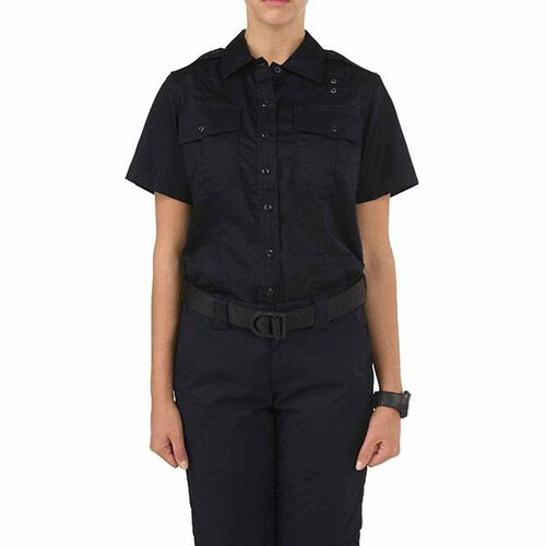 5.11 Tactical Women's Short Sleeve Twill B Class PDU Shirt, , hi-res