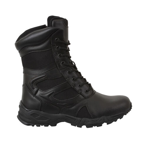 Rothco Forced Entry Deployment Side Zipper 8 inch Boots, , hi-res
