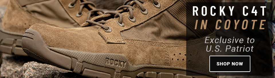 Rocky C4T Gen 2 Boots in Coyote Exclusively Available at USPatriot.com