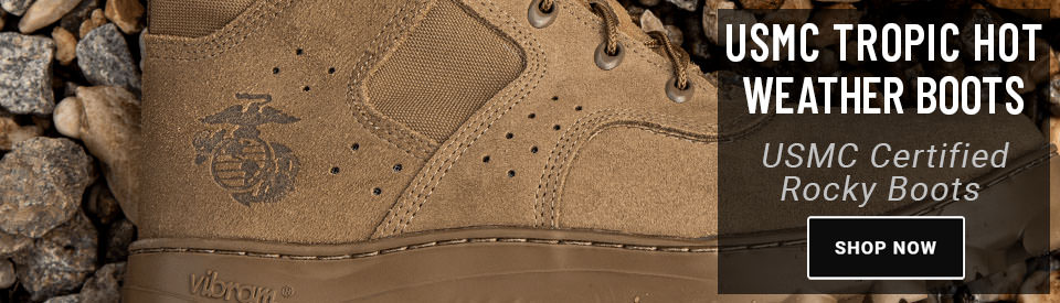 Rocky USMC Tropic Hot Weather Boots Available at USPatriot.com