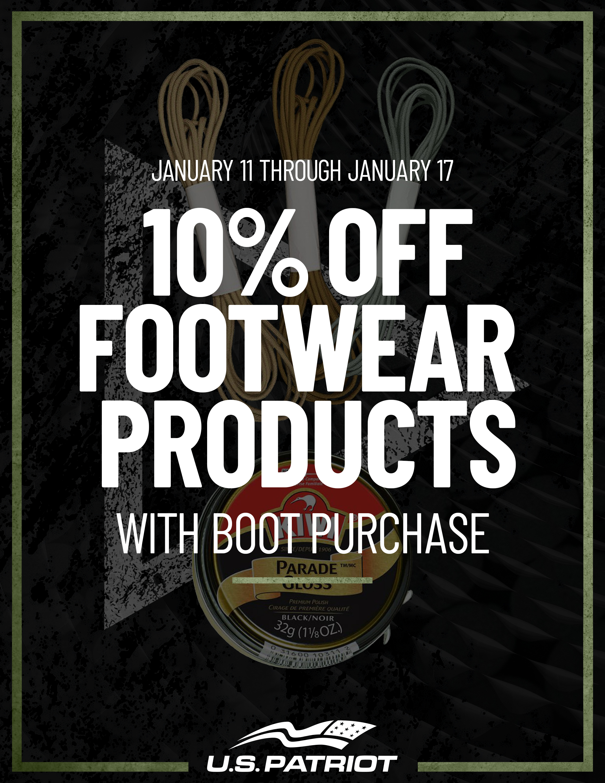 10% Off Footwear Products