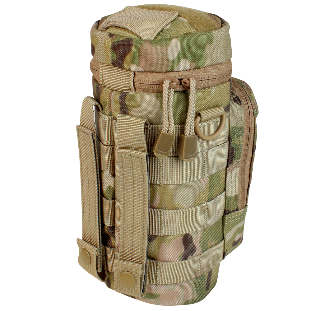 Multicam Modular MOLLE Hydration Carrier H2O Water Bottle Tactical Pouch W// Stra